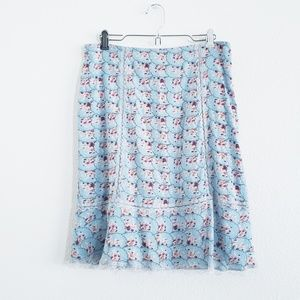 Lux Beautiful Floral Knee Length Skirt Size 5